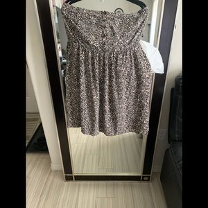 Tube top leopard print dress w/pockets!